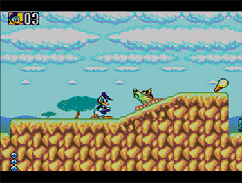 Pantallazo del juego online Deep Duck Trouble Starring Donald Duck (SMS)