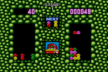 Pantallazo del juego online Dr Robotnik's Mean Bean Machine (SMS)