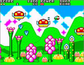 Pantallazo del juego online Fantasy Zone II The Tears of Opa-Opa (SMS)