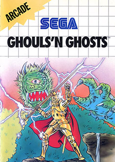 Carátula del juego Ghouls 'N Ghosts (SMS)
