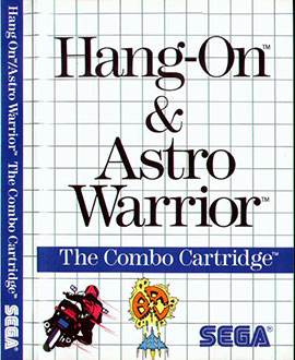 Carátula del juego Hang On and Astro Warrior (SMS)