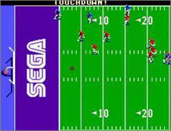 Pantallazo del juego online Joe Montana Football (SMS)