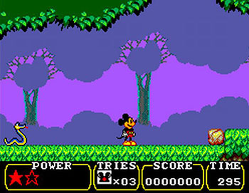 Pantallazo del juego online Land of Illusion starring Mickey Mouse (SMS)