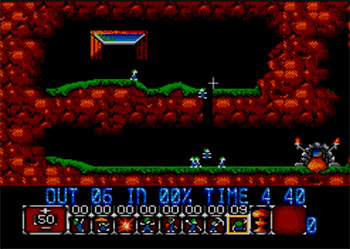 Pantallazo del juego online Lemmings (SMS)