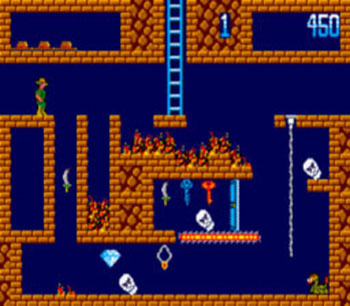Pantallazo del juego online Montezuma's Revenge featuring Panama Joe (SMS)