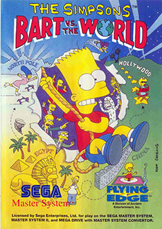 Juego online The Simpsons: Bart vs the World (SMS)