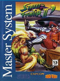 Carátula del juego Street Fighter II (SMS)