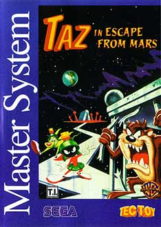 Portada de la descarga de Taz in Escape from Mars