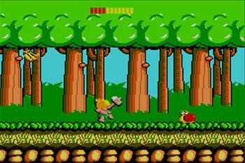 Pantallazo del juego online Wonder Boy (SMS)