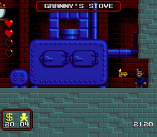 Pantallazo del juego online The Addams Family (Snes)