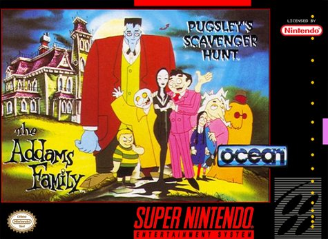Carátula del juego The Addams Family - Pugsley's Scavenger Hunt (Snes)