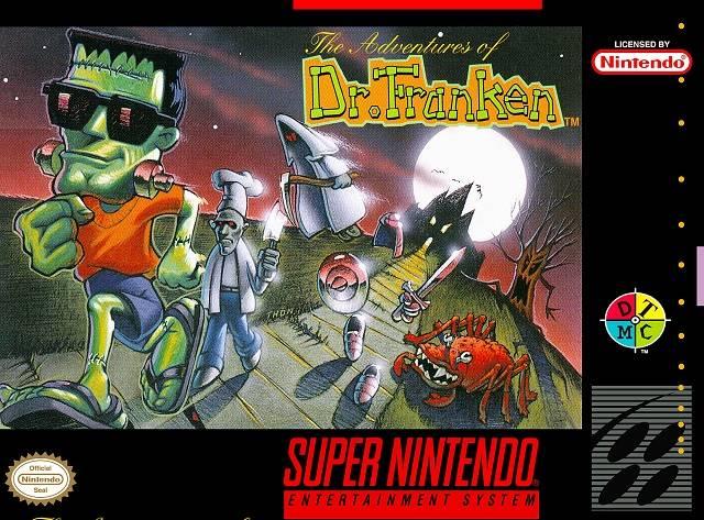 Carátula del juego The Adventures of Dr Franken (Snes)