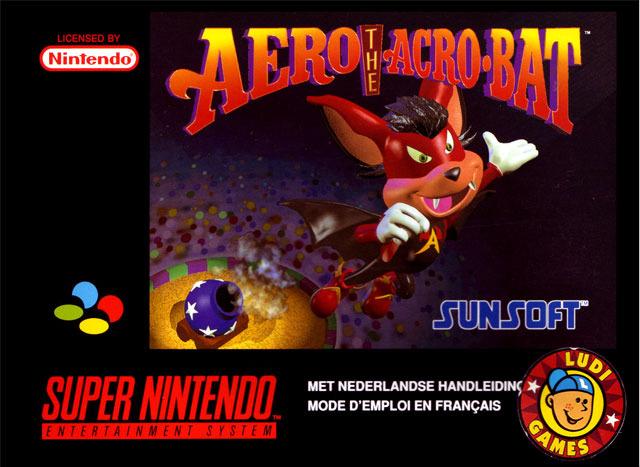 Carátula del juego Aero the Acrobat (Snes)
