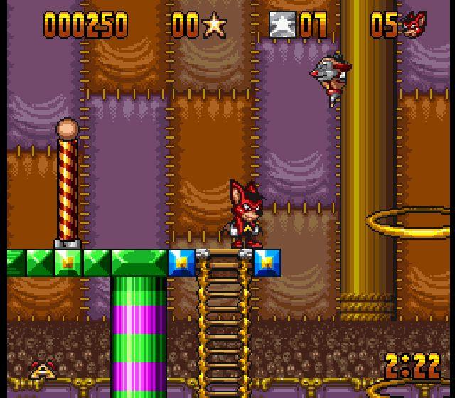 Pantallazo del juego online Aero the Acrobat (Snes)