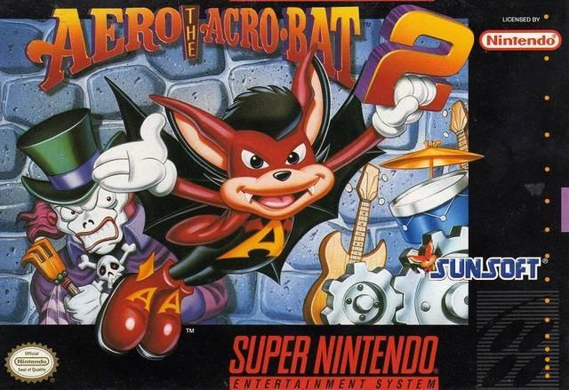 Carátula del juego Aero the Acrobat 2 (Snes)