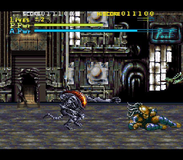 Pantallazo del juego online Alien vs Predator (Snes)