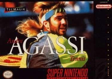 Carátula del juego Andre Agassi Tennis (Snes)