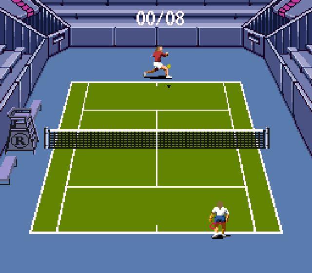 Pantallazo del juego online Andre Agassi Tennis (Snes)