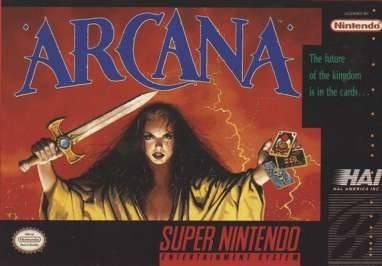 Carátula del juego Arcana (Snes)