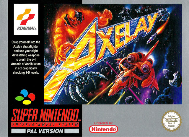 Carátula del juego Axelay (Snes)