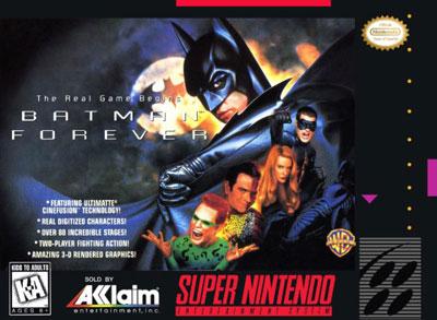 Carátula del juego Batman Forever (Snes)