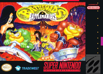 Portada de la descarga de Battletoads in Battlemaniacs