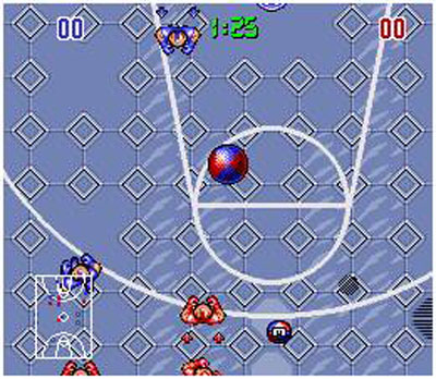 Pantallazo del juego online Bill Laimbeer's Combat Basketball (Snes)