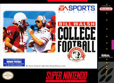 Carátula del juego Bill Walsh College Football (Snes)