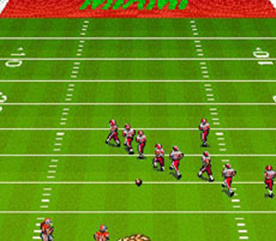 Pantallazo del juego online Bill Walsh College Football (Snes)