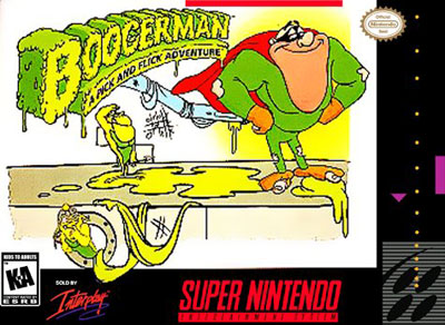 Carátula del juego Boogerman - A Pick and Flick Adventure (Snes)