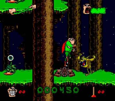 Pantallazo del juego online Boogerman - A Pick and Flick Adventure (Snes)