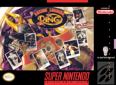 Carátula del juego Boxing Legends of the Ring (Snes)