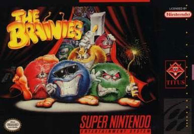 Carátula del juego The Brainies (Snes)