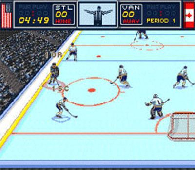Pantallazo del juego online Brett Hull Hockey 95 (Snes)