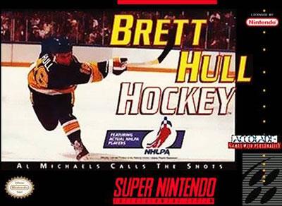 Carátula del juego Brett Hull Hockey (Snes)