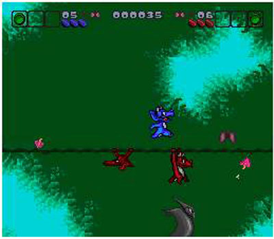 Pantallazo del juego online Bronkie The Bronchiasaurus (Snes)