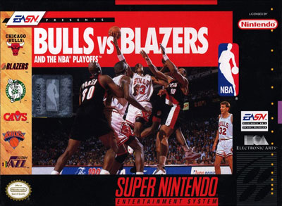 Carátula del juego Bulls vs Blazers and the NBA Playoffs (Snes)