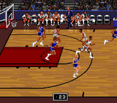Pantallazo del juego online Bulls vs Blazers and the NBA Playoffs (Snes)