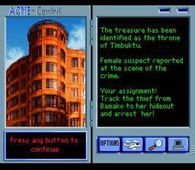 Pantallazo del juego online Where in the World is Carmen Sandiego (Snes)