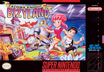 Carátula del juego Cacoma Knight in Bizyland (Snes)