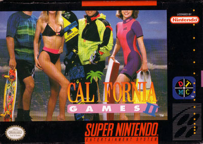 Carátula del juego California Games II (Snes)