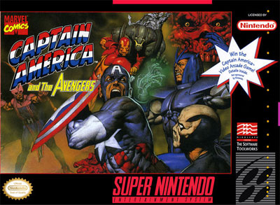 Carátula del juego Captain America and The Avengers (Snes)
