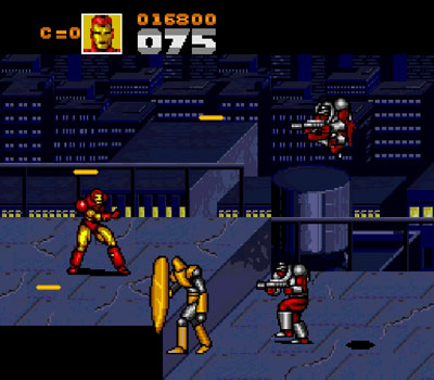 Pantallazo del juego online Captain America and The Avengers (Snes)