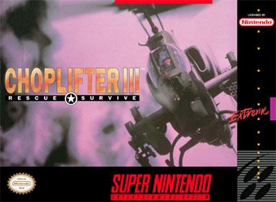 Carátula del juego Choplifter III (Snes)