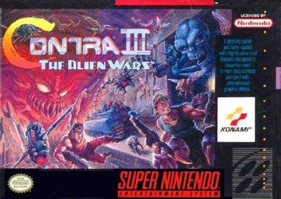 Carátula del juego Contra III - The Alien Wars (Snes)
