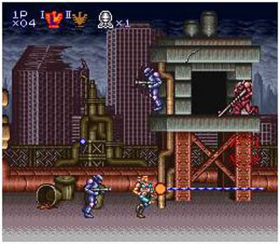 Pantallazo del juego online Contra III - The Alien Wars (Snes)