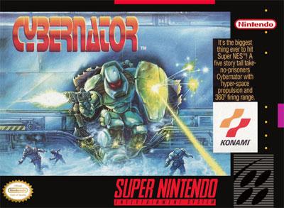 Carátula del juego Cybernator (Snes)