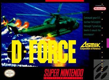 Carátula del juego D-Force (Snes)