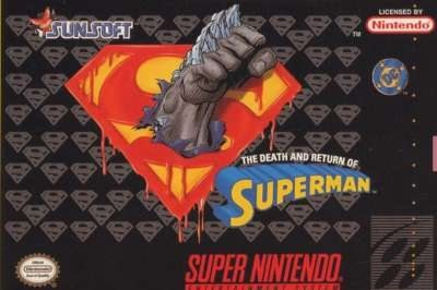 Carátula del juego The Death and Return of Superman (Snes)