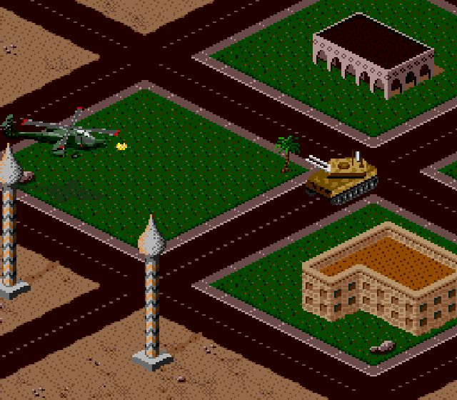 Pantallazo del juego online Desert Strike - Return to the Gulf (Snes)